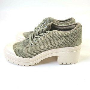 CHINESE LAUNDRY WOMEN SHOES GREEN CORDUROY SIZE 8
